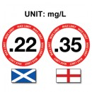 UK drink driving limits in MG/L