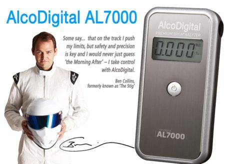 AL7000 Alcodigital breathalyzer and Stig Ben collins