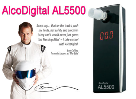 AL5500 Alcodigital breathalyzer and Stig Ben collins