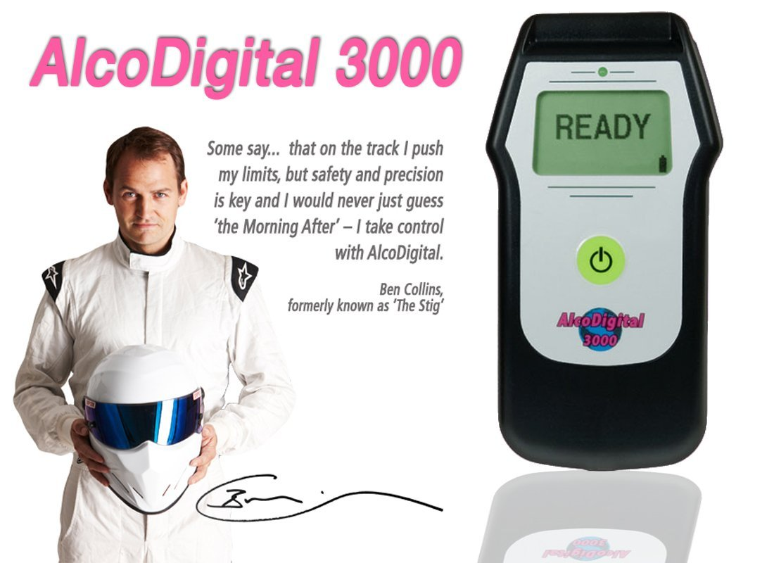 Alcodigital 3000 breathalyzer and Stig Ben collins