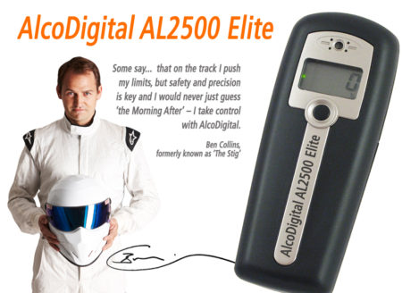 AlcoDigital AL2500 breathalyzer and Stig Ben collins