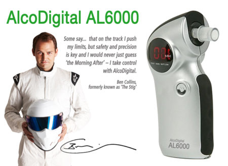 AlcoDigital AL6000 breathalyzer and Stig Ben collins
