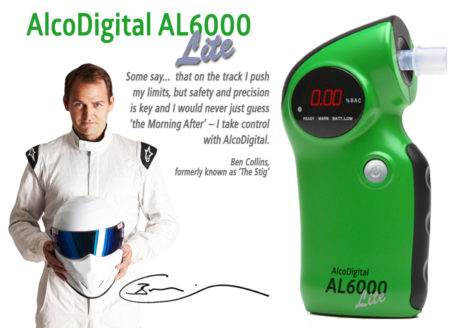AL6000 Lite Alcodigital breathalyzer and Stig Ben collins