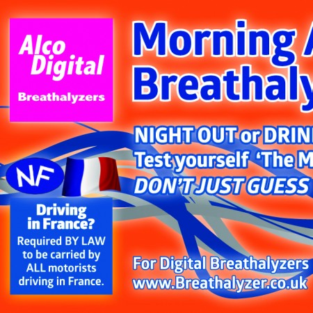 Single use NF approved breathalyzer