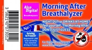 Single use NF approved and morning after breathalyzer