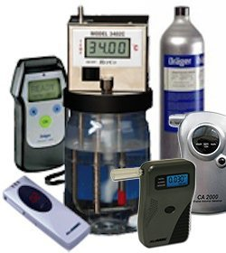 Breathalyzer calibration equipment