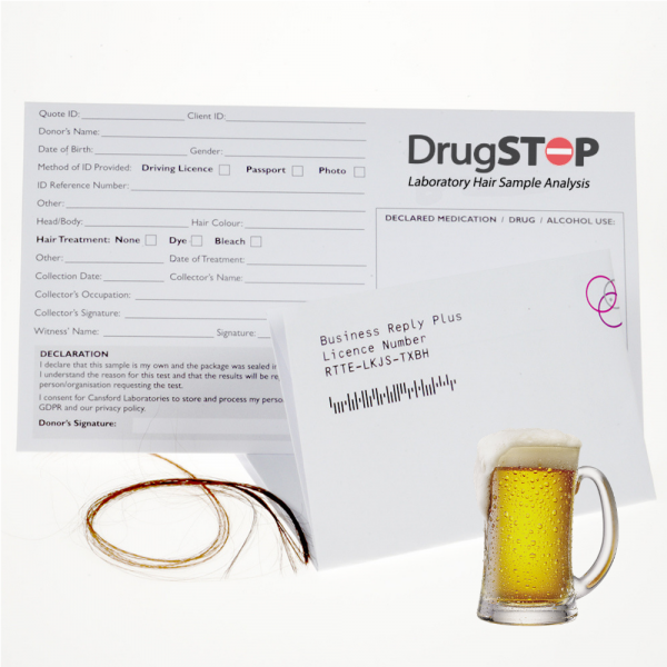 DrugStop Laboratory Hair Sample Test Kit for Alcohol